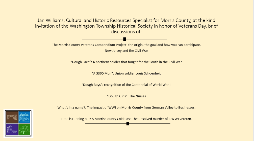 New Jersey and the Civil War: Jan Williams: 11/5