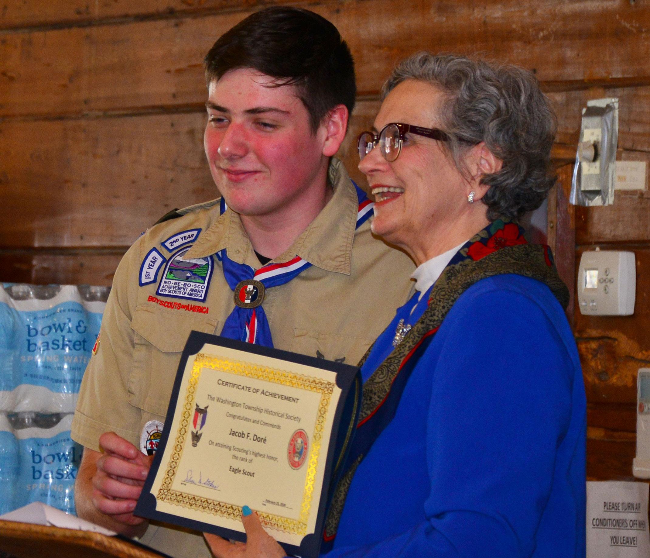 WTHS congratulates Scout Jacob Dore